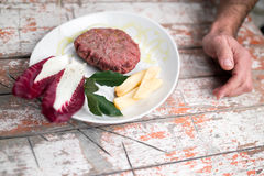 бургер вкусный Стоковое Изображение RF