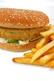 бургер жарит vegetarian Стоковые Фото
