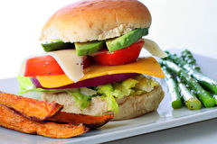 бургер жарит veggie помадки картошки Стоковая Фотография RF