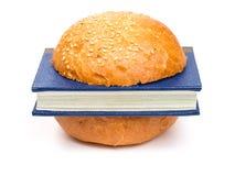 бургер книги Стоковая Фотография