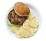 бургер откалывает vegetarian Стоковые Фотографии RF