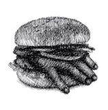 Бургер руки стоковая фотография