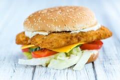 Бургер рыб & x28; селективное focus& x29; Стоковая Фотография RF