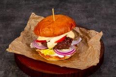 Бургер с мясом Стоковое Изображение