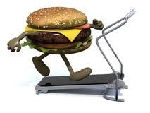 Бургер с оружиями и ногами на идущей машине бесплатная иллюстрация