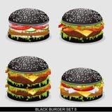 Бургер установил 8 Стоковое Изображение