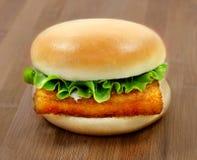 Бургер фото с филе рыб Стоковые Фотографии RF