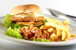 Бургер цыпленка Стоковое Изображение RF