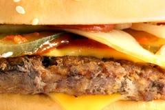 Бургер части макроса Стоковая Фотография
