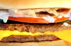 Бургер части макроса Стоковое Фото