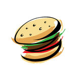бургер Стоковые Изображения