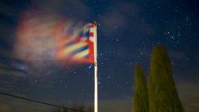 Бургундский флаг с звездами стоковые фото