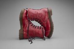Бургундские ботинки Стоковые Изображения RF