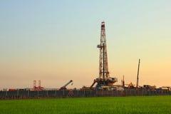 Бурение нефтяных скважин Стоковое Изображение RF
