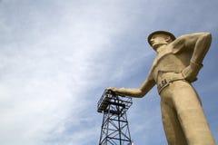 Бурильщик золота, ориентир ориентиры Tulsa Оклахомы США стоковое изображение rf