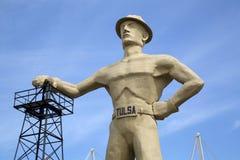 Бурильщик золота, ориентир ориентиры Tulsa Оклахомы США стоковые изображения rf