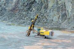 Бурильщик в шахте карьера индустрия земли andalusia повреждает минируя Испанию стоковые изображения rf