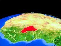 Буркина-Фасо от космоса на земле иллюстрация вектора