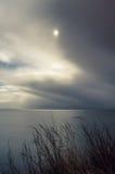 Бурная ноча на море стоковое фото rf