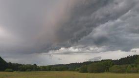 Бурная панорама ландшафта полей Стоковая Фотография RF
