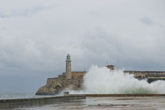 Бурное море в Гаване Стоковые Изображения