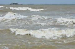 Бурное море в лете Стоковая Фотография