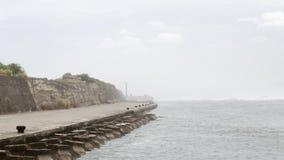 Бурное море на гавани Стоковое Изображение RF