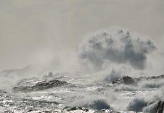 Бурное море на побережье, Канарские острова Стоковые Фото
