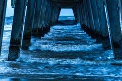 Бурное утро на пристани Стоковое Фото