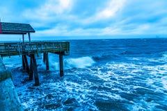 Бурное утро на пристани Стоковая Фотография RF