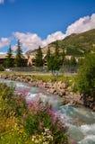 Бурное mountayn Джон Альпы реки Франция Стоковая Фотография