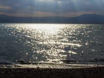 Бурные облака на море Стоковая Фотография RF