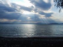 Бурные облака на море Стоковое Фото
