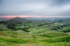 Бурный восход солнца от скалистой вершины Mam Стоковые Изображения RF