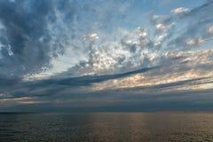 Бурный драматический seascape в Istria, Хорватии Стоковые Изображения RF