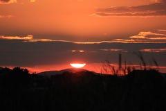 Бурный заход солнца природы облака Стоковое фото RF