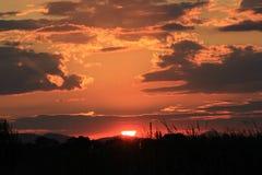 Бурный заход солнца природы облака Стоковое Фото