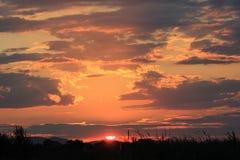 Бурный заход солнца природы облака Стоковые Фотографии RF