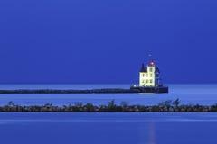 Бурный маяк Lorain стоковое фото