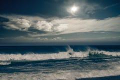 Бурный океан с ненастными облаками Стоковые Фотографии RF