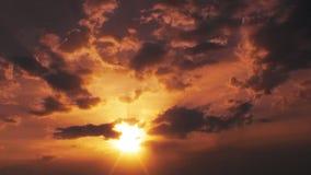 Бурный промежуток времени облаков, отснятый видеоматериал запаса акции видеоматериалы