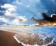 Бурный seascape Стоковое Фото