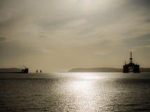Буровая вышка в Шотландии Стоковые Фотографии RF