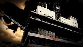 Буровая вышка на море Стоковые Фотографии RF