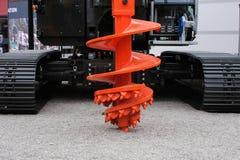 Буровое оборудование сверла утеса для строительной промышленности, складывающ машинное оборудование, складывая снаряжение стоковая фотография rf