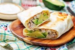 Буррито авокадоа цыпленка Стоковые Изображения RF