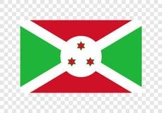 Бурунди - национальный флаг иллюстрация вектора