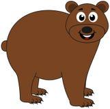 Бурый медведь на его профиле и усмехаться бесплатная иллюстрация