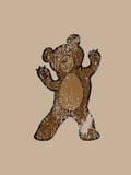 Бурый медведь стоя счастливый штемпель улыбки Стоковое Изображение RF