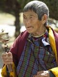 Бутанская женщина - Paro Dzong - Бутан Стоковая Фотография